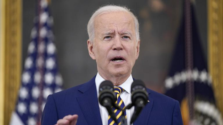 In this June 18, 2021 file photo, President Joe Biden speaks about COVID-19 vaccination shots, in the State Dining Room of the White House in Washington. (AP Photo / Evan Vucci)