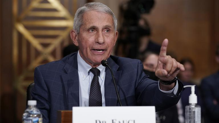 Top infectious disease expert Dr. Anthony Fauci responds to accusations by Sen. Rand Paul, R-Ky., as he testifies before the Senate Health, Education, Labor, and Pensions Committee, on Capitol Hill in Washington, Tuesday, July 20, 2021. (AP Photo / J. Scott Applewhite, Pool)