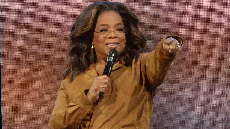 "This Feb. 8, 2020 file photo shows Oprah Winfrey during ""Oprah's 2020 Vision: Your Life in Focus"" tour in New York. (Photo by Brad Barket / Invision / AP, File)"