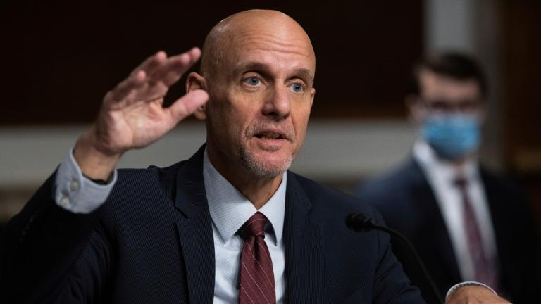 In this Sept. 23, 2020, file photo, Dr. Stephen Hahn, commissioner of the U.S. Food and Drug Administration, testifies during a Senate Health, Education, Labor, and Pensions Committee Hearing on the federal government response to COVID-19 on Capitol Hill. (Graeme Jennings / Pool via AP, File)