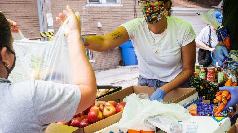 Volunteering looks different during the pandemic, but organizations still need support. (Courtesy of Northwest Side Solidarity Network)