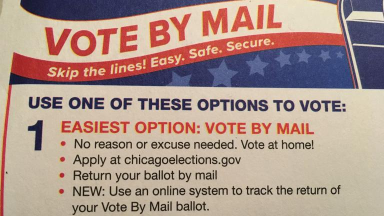 A mailer sent from the Chicago Board of Elections for the March 2020 primary. (WTTW News)