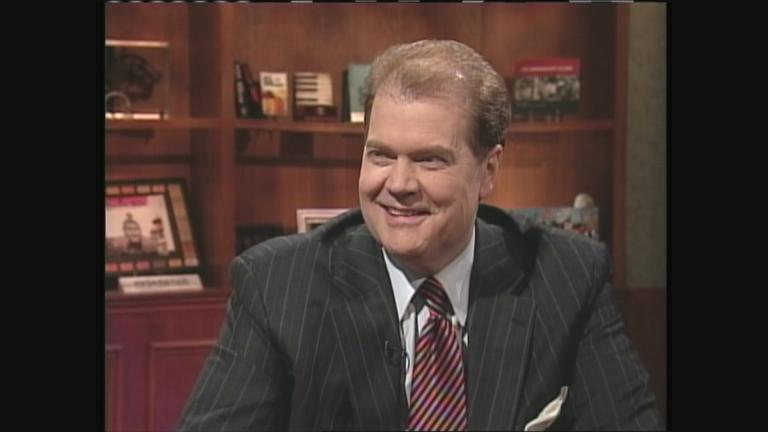 "Chet Coppock appears on the ""Friday Night"" show on April 7, 2006."