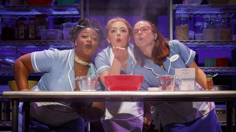 "Charity Angel Dawson, Desi Oakley and Lenne Klingaman in ""Waitress."" (Credit: Joan Marcus)"