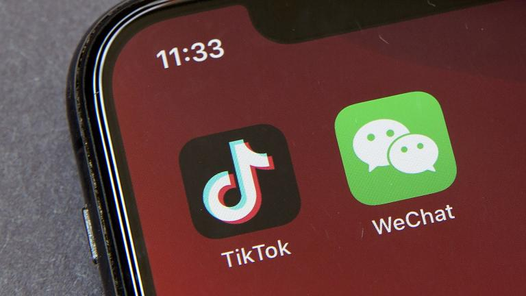 Icons for the smartphone apps TikTok and WeChat are seen on a smartphone screen in Beijing, in a Friday, Aug. 7, 2020 file photo. (AP Photo / Mark Schiefelbein, File)