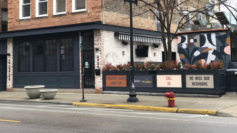"""""""We miss our neighbors."""" A simple truth shared by a restaurant in Lincoln Square. (Patty Wetli / Flickr)"""