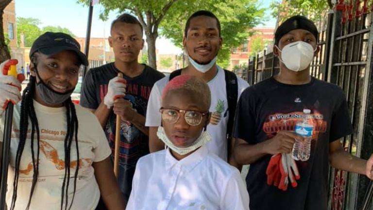 Teens organized cleanups on the West Side. (Facebook)