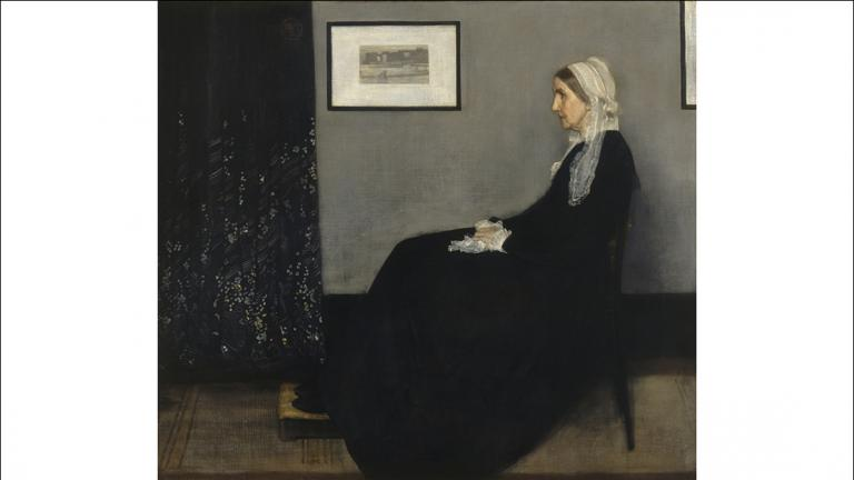 "James McNeill Whistler. ""Arrangement in Grey and Black No. 1 (Portrait of the Artist's Mother),"" 1871. Musée d'Orsay, Paris, RF 699. © RMN-Grand Palais / Art Resource, NY."