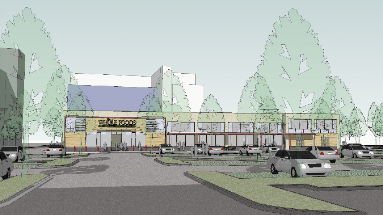 Rendering of Whole Foods slated to be built in Englewood in 2016