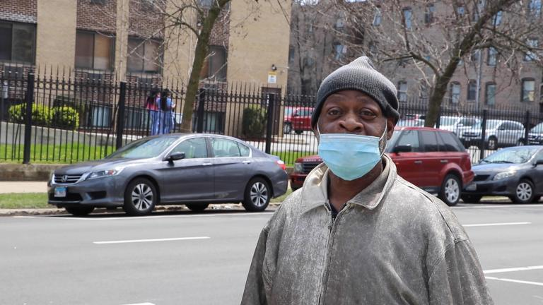 "Kenwood resident Willie Horton lost his job due to Chicago's COVID-19 shutdown. ""People are dropping like flies and the young folks really don't realize it,"" Horton said. ""They're the ones giving the older folks the virus. So I can understand, it's best to be safe."""
