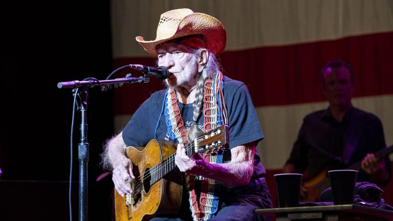 Willie Nelson performs at Ravinia on Saturday, Aug. 14, 2021. (Credit: Kyle Dunleavy)