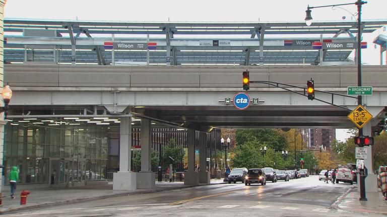 The Wilson CTA Red Line station. (WTTW News)