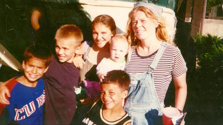 Pictured are Gino Garcia, his mother, Brenda Sexton, and other family members. (Courtesy of Gino Garcia)