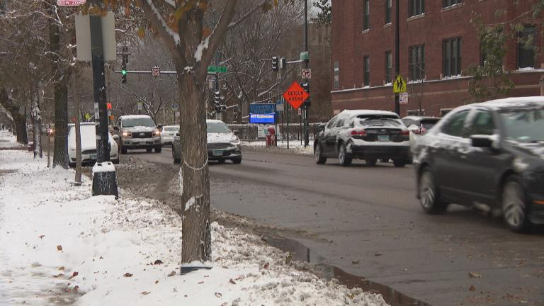 Cold and snow blasted Chicago on Monday, Nov. 11, 2019. A winter weather advisory from the National Weather Service is in effect for the Chicago region from 5 p.m. Friday, Jan. 17 through Saturday morning. (WTTW News)