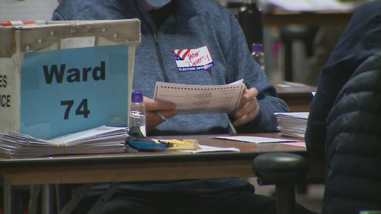 Ballots are counted in Wisconsin. (WTTW News)