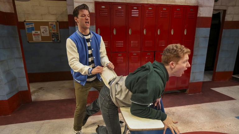 "Ty Fanning, left, and MacGregor Arney in ""Teenage Dick."" (Photo credit: Charles Osgood)"