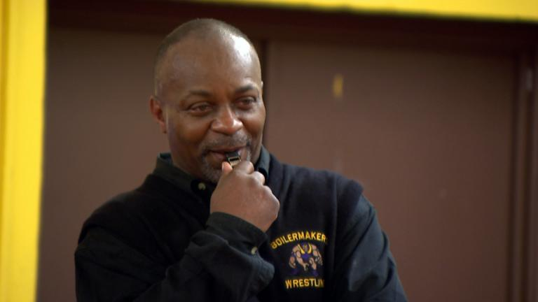 Bowen High School wrestling coach Ron Wilson