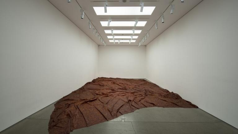 Doris Salcedo, A Flor de Piel, 2011–12, Rose petals and thread; photo: Photo: Hugo Glendinning