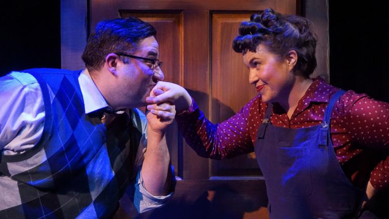 "Tommy Bullington and Sarah Beth Tanner in ""A Man of No Importance."" (Photo by Heather Mall)"