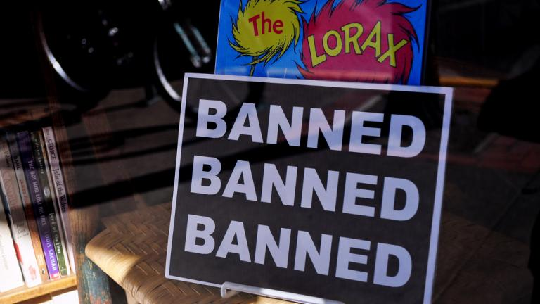 "The Dr. Seuss book ""The Lorax"" was banned in a California school district in the late 1980s. (Carissa Rogers / Flickr)"