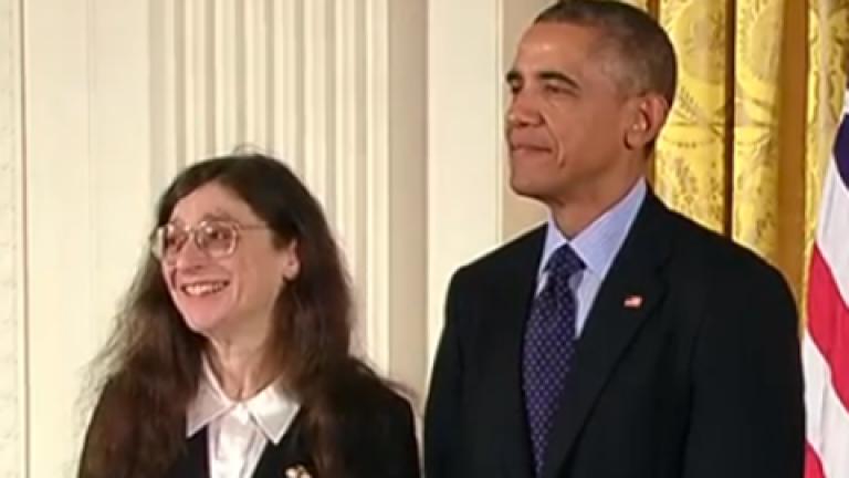 May Berenbaum and Barack Obama