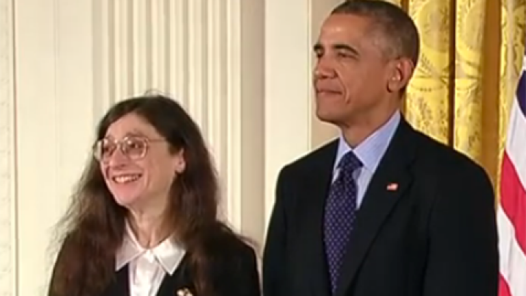 May Berenbaum and Barack Obama