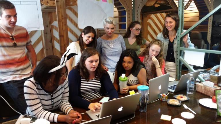BraveCamp participants at work on a project. (Courtesy of Brave Initiatives)