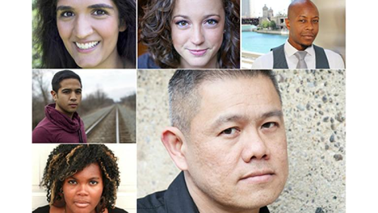 Victory Gardens Artistic Director Chay Yew (lower right) and the five emerging directors chosen for a new program at the theater.