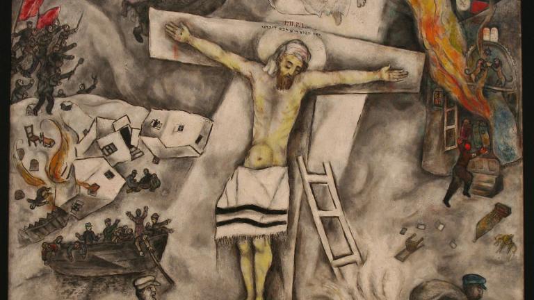 """White Crucifixion,"" Mark Chagall. 1938. (Sharon Mollerus / Flickr)"
