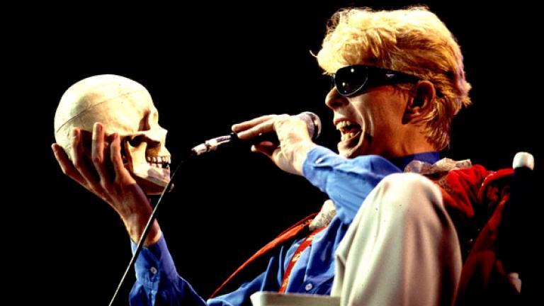 David Bowie performs in Chicago in 1983; Photo by Paul Natkin