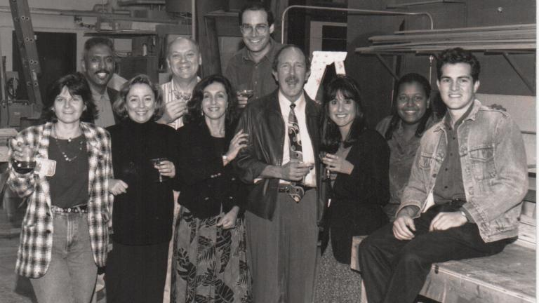 Glenn DuBose's last day at WTTW in 1994. (Courtesy of Marc Vitali)