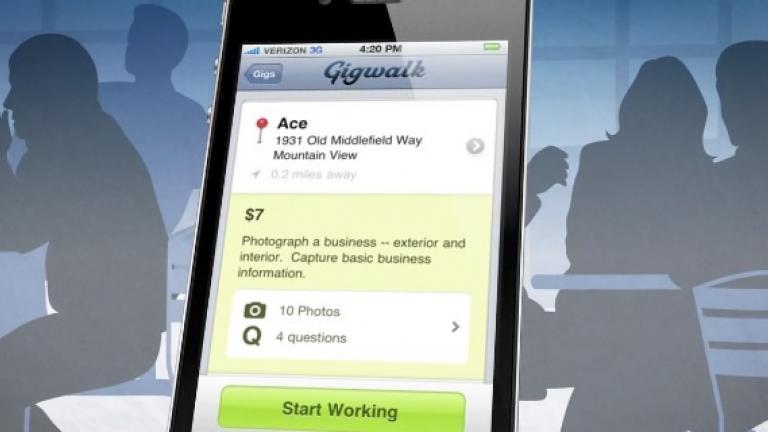 Gigwalk's iPhone app