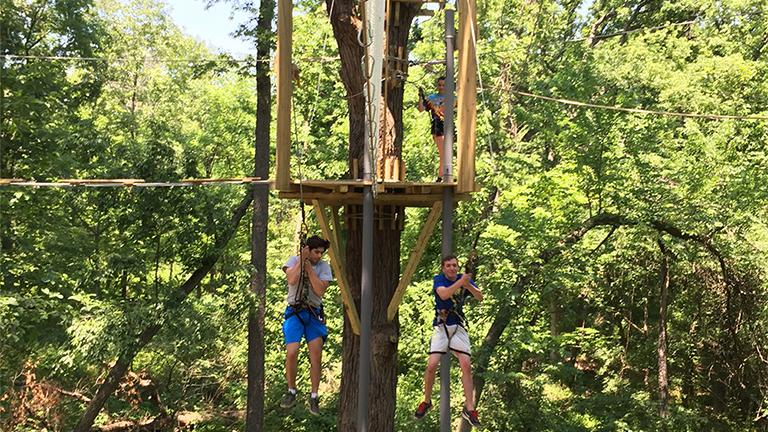 The treetop adventure course at Bemis Woods boasts 2,837 feet of zip line. (Courtesy of Go Ape)
