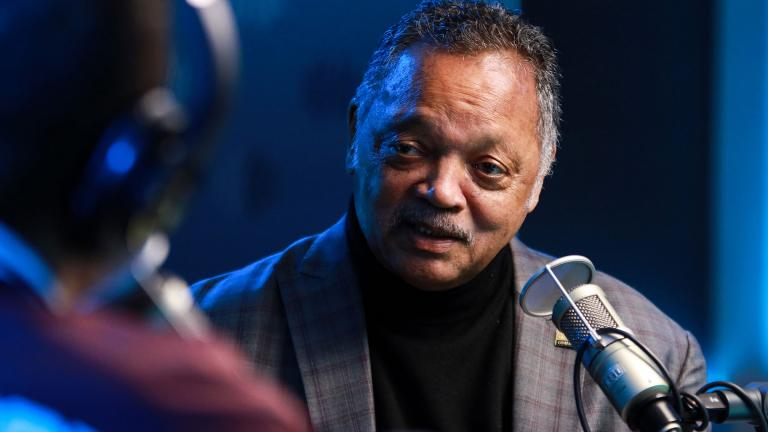The Rev. Jesse Jackson has left the hospital for a rehabilitation center after surgery. Jackson is pictured here at SiriusXM Studios on Feb. 27, 2020 in New York City. (Jason Mendez / Getty Images)