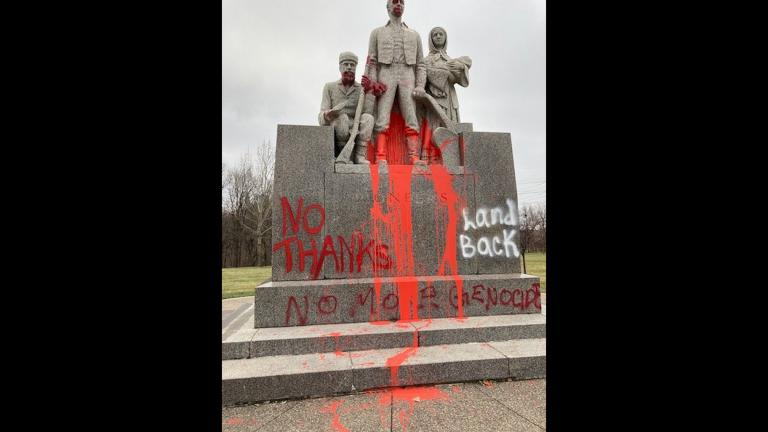 The Minneapolis Park and Recreation Board says the Pioneers Statue has been controversial. (Credit: Minneapolis Park and Recreation)