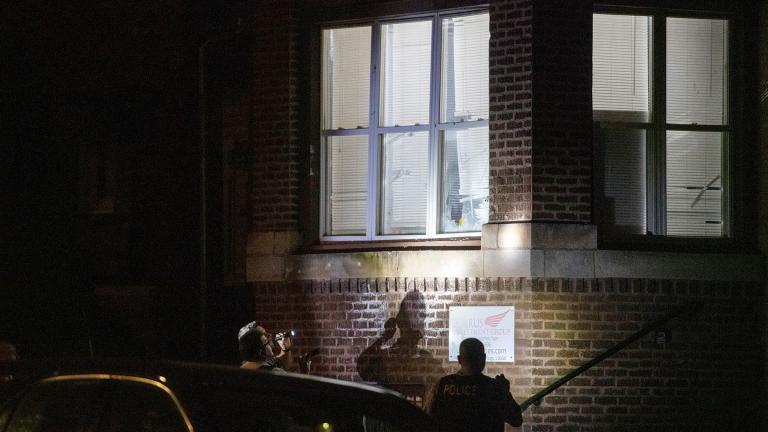 Chicago police are investigating the shooting of a 4-year-old boy in Chicago on Friday night. (Tyler LaRiviere / Chicago Sun-Times / AP)