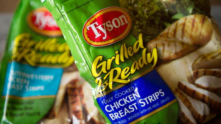 Tyson Foods Inc. is recalling nearly 8.5 million pounds of ready-to-eat chicken products because they may be contaminated with Listeria, the USDA Food Safety and Inspection Service announced June 3. (David Paul Morris / Bloomberg / Getty Image)