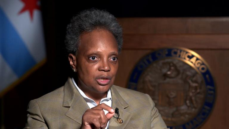 Chicago Mayor Lori Lightfoot says relying primarily on law enforcement to fight crime, without other support for communities, doesn't work. (Leonel Mendez / CNN)