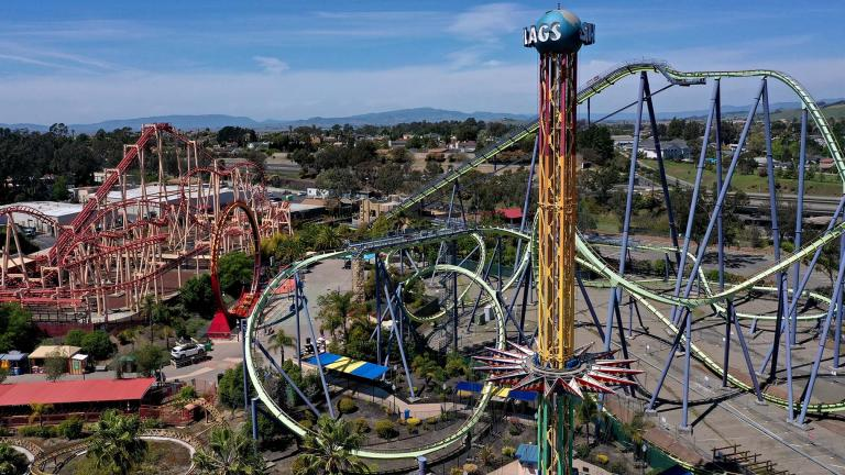 Six Flags Entertainment Corporation says it is planning to open all 26 of its amusement parks and water parks for the 2021 season, including five that were not able to operate last year because of the coronavirus pandemic. (Justin Sullivan / Getty Images)