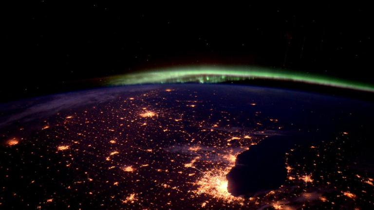 Photo of Chicago by astronaut Scott Kelly