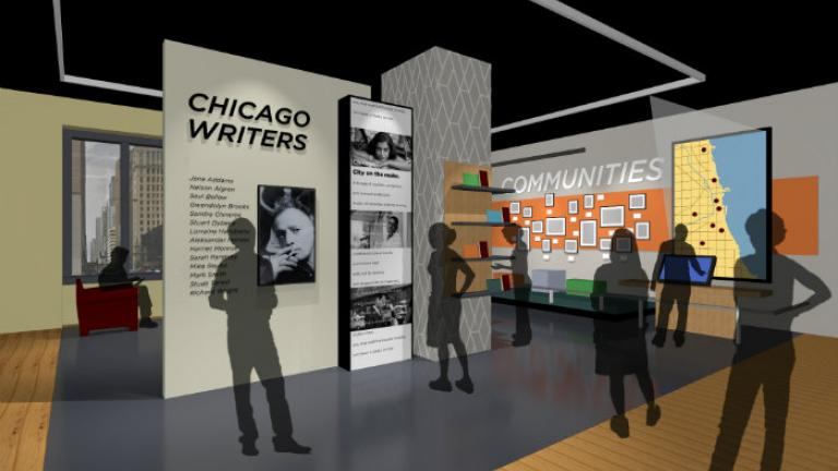 A rendering for the American Writers Museum (Courtesy of the American Writers Museum)