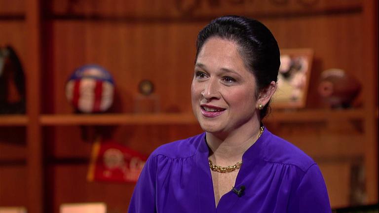 "Comptroller Susana Mendoza appears on ""Chicago Tonight"" on Jan. 23, 2017."