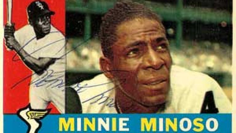 Minnie Minoso Autograph on a 1960 Topps (#365)