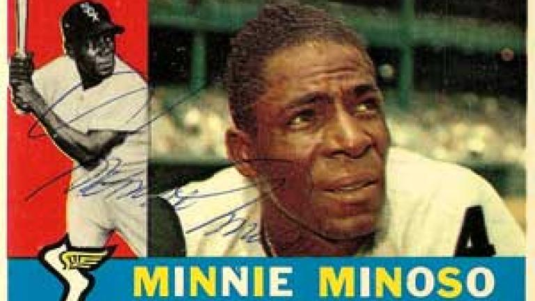 Minnie Minoso Autograph on a 1960 Topps (#365)