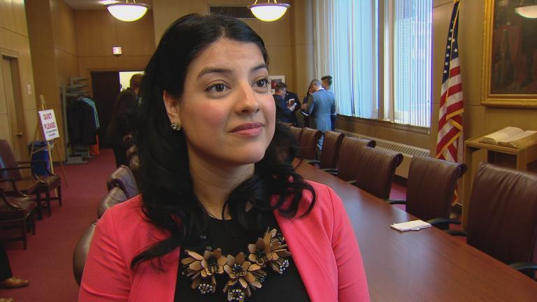 City Clerk Anna Valencia (Chicago Tonight)