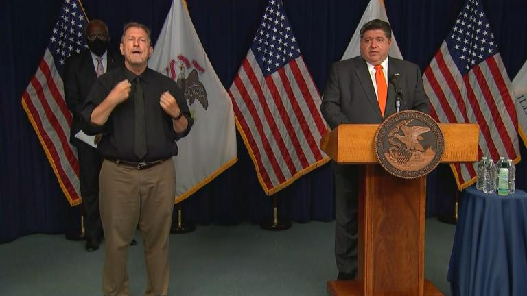 Gov. J.B. Pritzker gives an update Wednesday, Aug. 19, 2020 on the coronavirus.