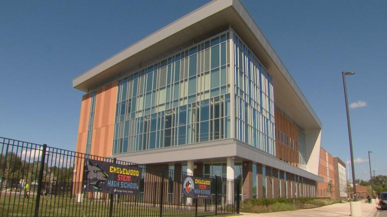 The new Englewood STEM High School welcomes its inaugural class of students for the 2019-20 school year. (WTTW News)
