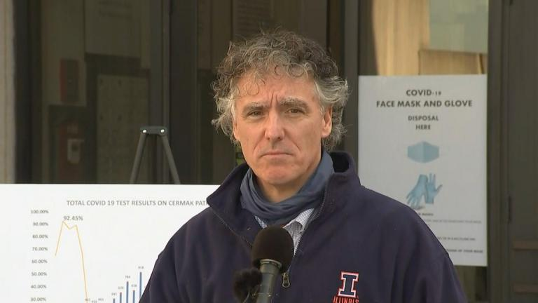 Sheriff Tom Dart speaks about COVID-19 at the Cook County Jail on Nov. 12, 2020. (WTTW News)