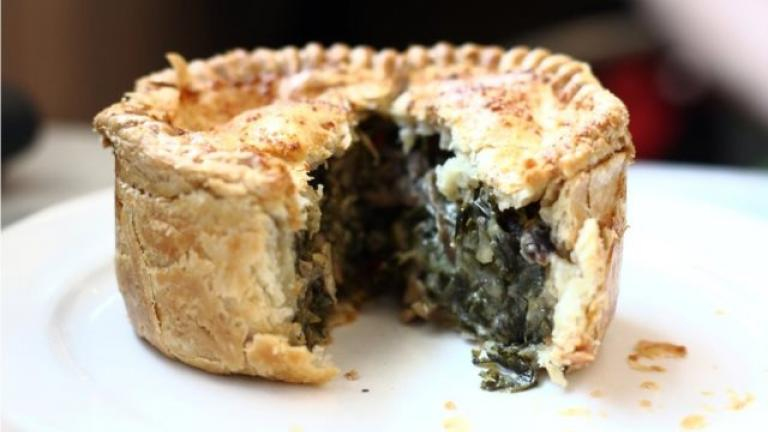 Mushroom and Kale Royal Pie