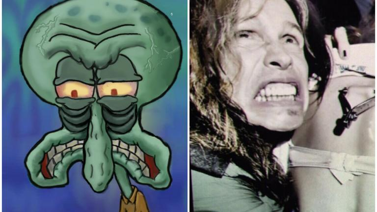 Squidward and Steven Tyler